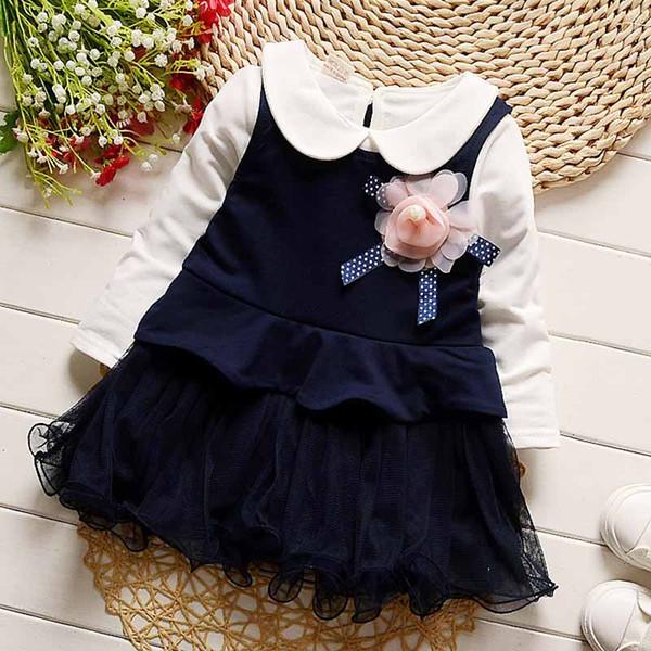 2018 bebê meninas vestido de roupas primavera meninas vestido infantil criança festa de aniversário princesa roupas crianças meninas desgaste formal