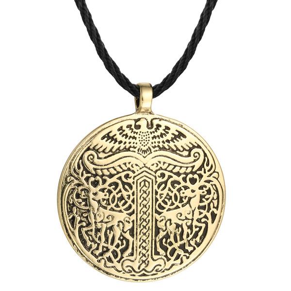 5pcs/lot New Yggdrasil Tree of life World Tree Irminsul Viking Deer Pendant Necklaces Legend Ancient Chokers Fahsion Accessary
