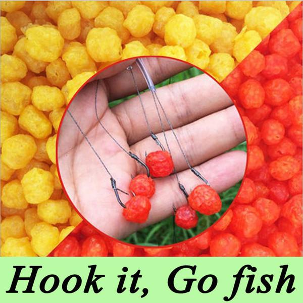 1 Bottle 60g 230pcs Carp Fishing Cereal Fruit Flavor Bait Balls Pop Floating Fishing Bait Boilies Y18100906