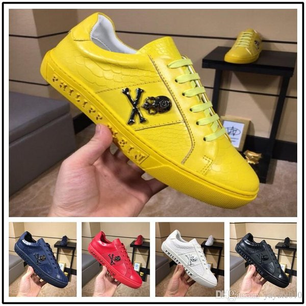 18ss Men's Casual Shoes Flats Genuine Leather Brogue Shoes Lace-Up Fashion Trend Luxury Quality Brand Design Handmade Carving