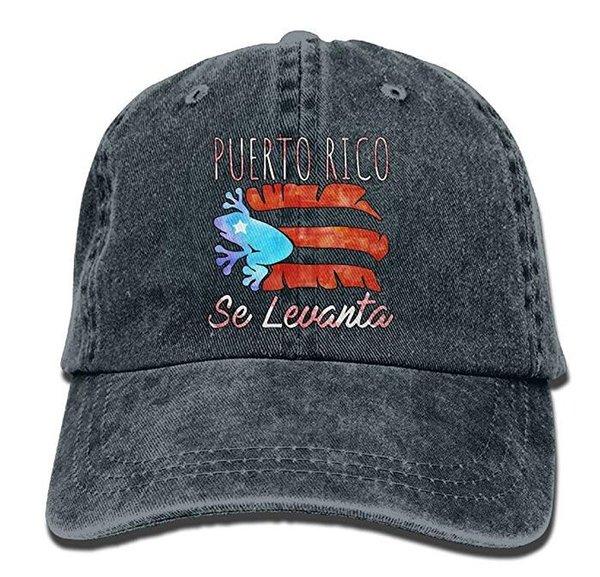 Porto Riko Se Levanta Kurbağa Coqui Boricua Pride Klasik Unisex Beyzbol Şapkası Ayarlanabilir Yıkanmış Boyalı Pamuk Topu Şapka Kap