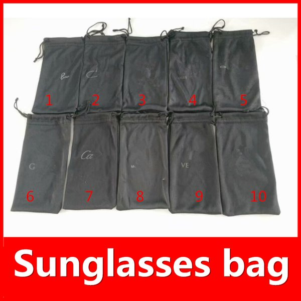best selling Black Bags For Sunglasses LOGO Bags Brand HOT SALE Brand Sunglasses Box 10 Colors Options luxury Suit For Normal Size MOQ=20pcs Fast Ship