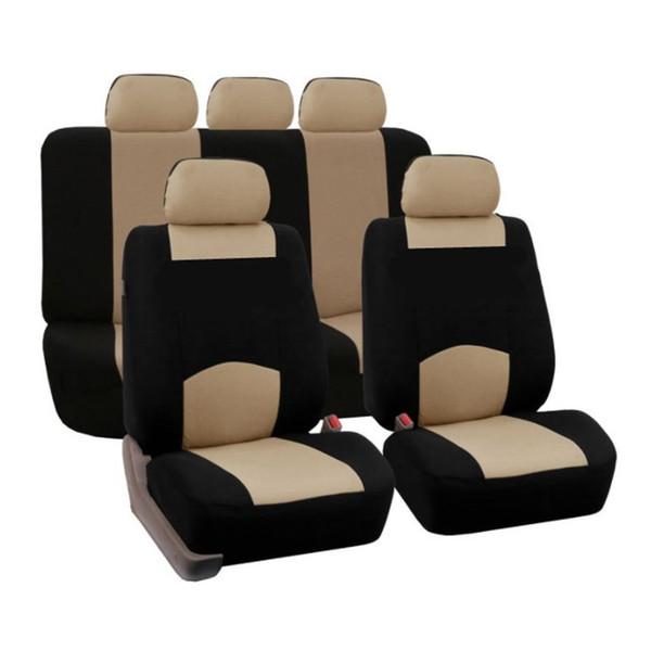 9pcs / set accesorios de diseño del coche de la cubierta de asiento de la esponja del coche ajuste universal para los coches de cinco asientos para las cuatro estaciones