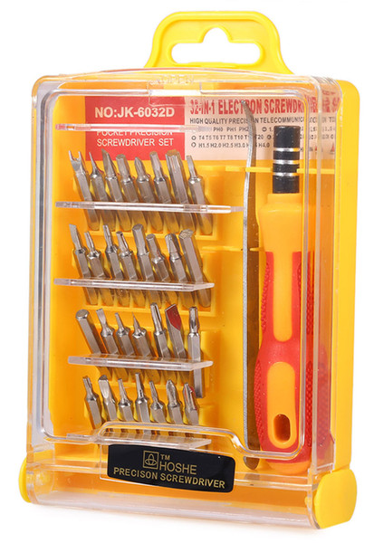 32 in 1 Interchangeable Precision Torx Screwdriver Repair Tool Set with Tweezer for iPhone Cellphone Tablet Laptop Electronics +B