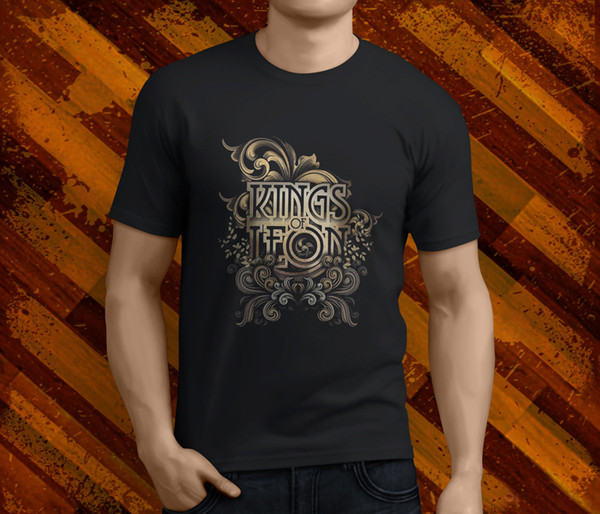 New Kings Of Leon Logo Rock Band Men/'s Black T-Shirt Size S to 3XL