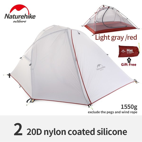 Naturehike factory sell wind wing 3season aluminum rod 1& 2 persons outdoor Tent Camping Hiking Tent rainproof light weight