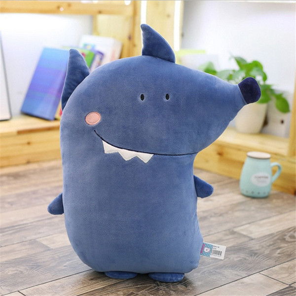 Stuffed Animals Toys Forest Series Dolls Cartoon Pink Pig Blue Wolf Cute Animal Office Nap Pillow Kid Birthday Gifts Knuffels