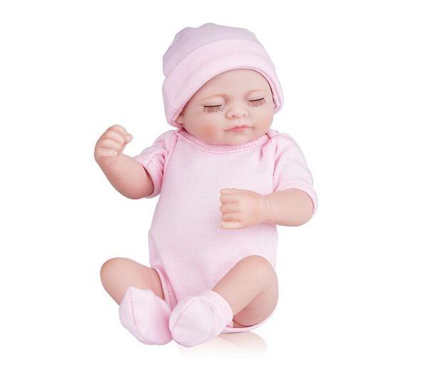 Silicone reborn baby dolls de corpo inteiro reborn baby dolls handmade reborn 11 polegada real procurando bebê recém-nascido menina silicone realista dolls
