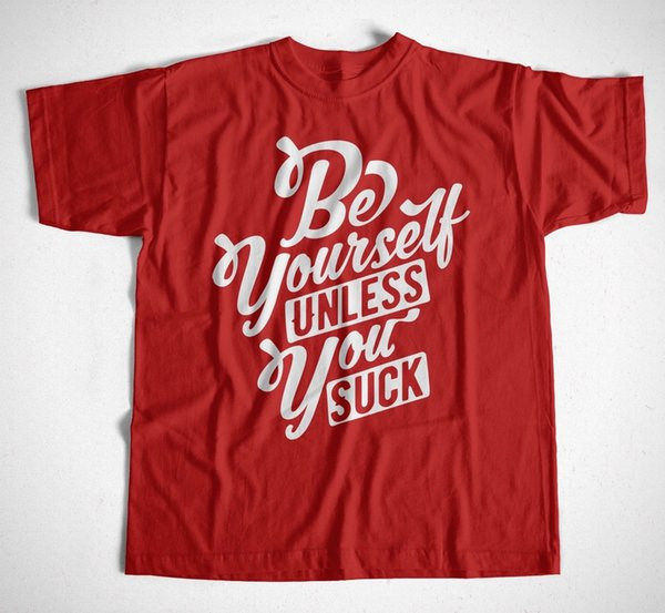 Compre Sé Tú Mismo Camiseta Rot Kult Funny Sprüche Männer Sei Immer Du Selbst Schwarz A 1101 Del Bstdhgate08 Dhgatecom