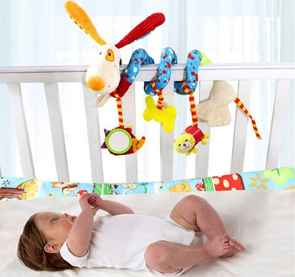 TOP Sale Infant Musical Soft Plush Rabbit Bear Dog Robot Baby Rattles Hanging Bed Stroller Star Teether Rattle Mobiles Baby Toys free ship