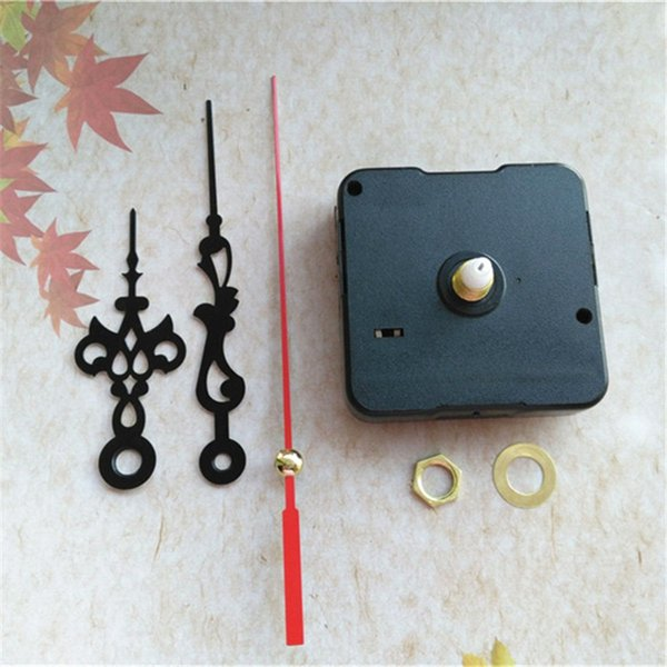 Wholesale 100PCS Sweep Standard Quartz Clock Movement with Black Hands Red Second Hands DIY Repair Accessories
