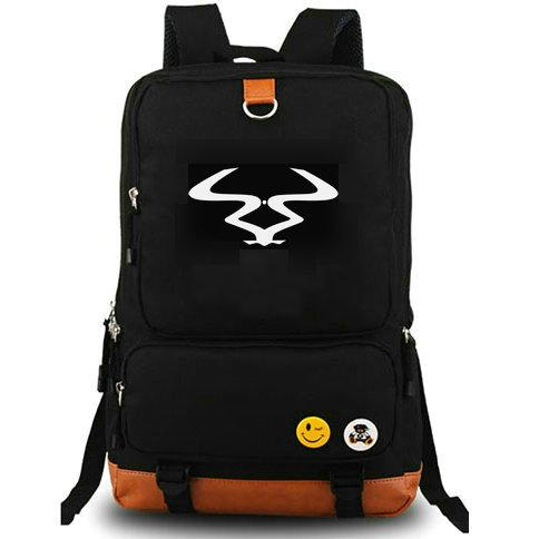 Andy C backpack Ram Records daypack DJ music schoolbag Computer interlayer rucksack Canvas school bag Outdoor day pack