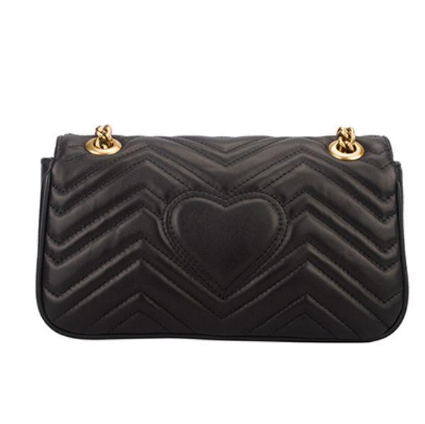 Top Quality Real Black Genuine Leather Crossbody Bag For Women Brand Luxury Fashion Designer Love-Shaped shoulder bag