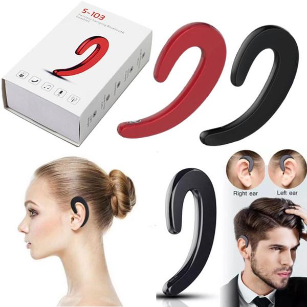 New Arrival S-103 wireless headphones Wireless Earphone with Mic portable mini Ear-hook headphones no earplug bluetooth headphones