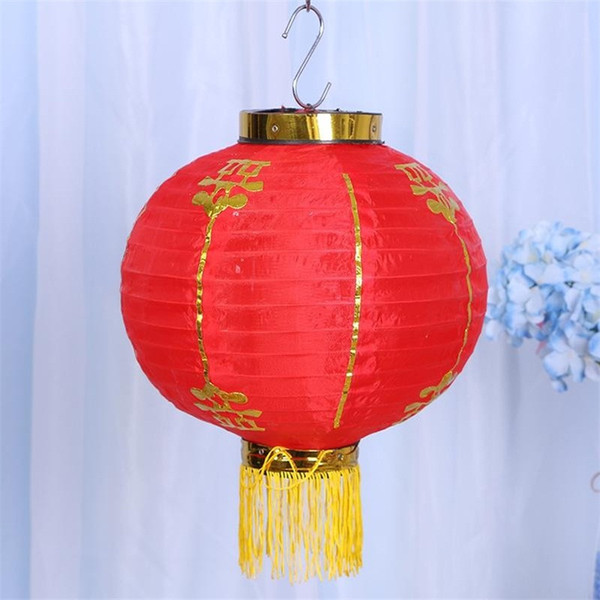 Small Decor Lanterns Chinese Portable New Year Red Hang Lantern Spring Festival Decoration For Wedding Supplies Light 9ht cc