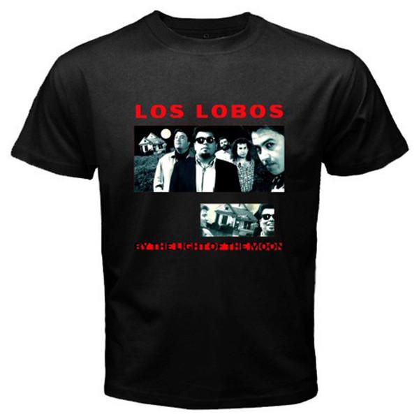 Новый Los Lobos в свете луны альбом мужская черная футболка размер S-3XL новая мода футболки топ тройник печати