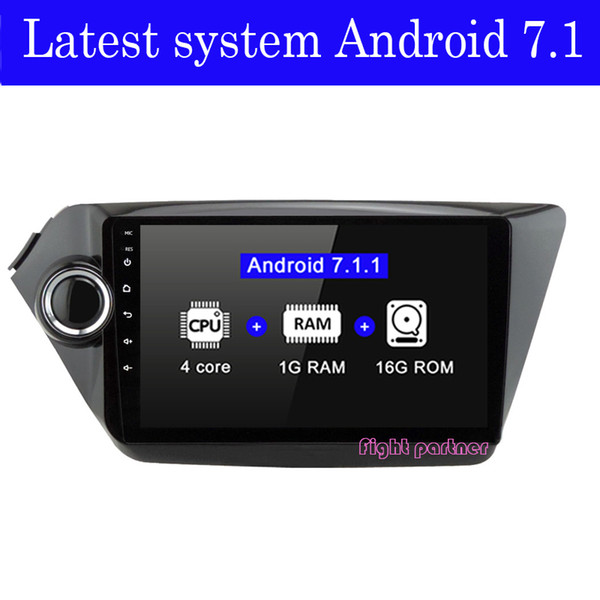 Factory price latest android 7.1.2 car dvd player gps navigation for Kia k2 RIO 2010 2011 2012 2013 2014 2015 car stereo car rad