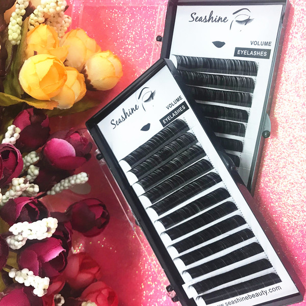 1 Tray/Set 12Rows C D L Individual Eyelash Extensions Silk Black Fake False Eyelashes Curl Fine Individual Lashes Extension