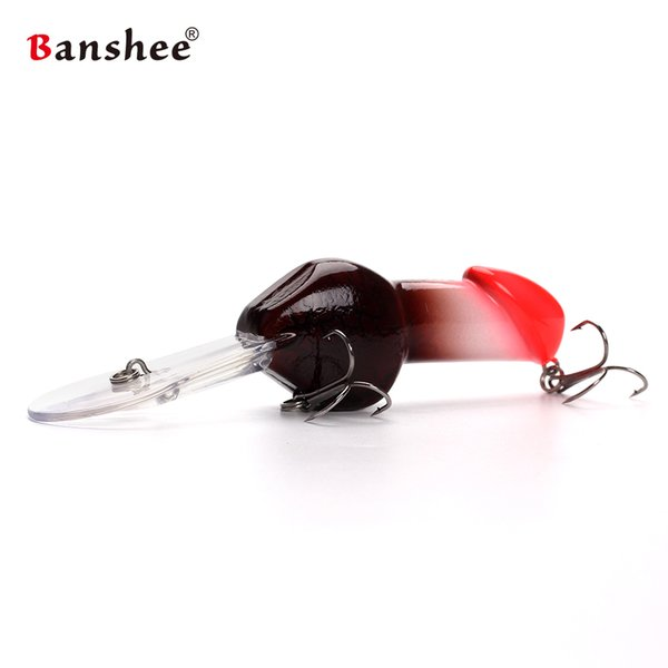 Banshee 85mm 27g JJ01 Valentine's gift Big Deep Diving Dick Rattle Minnow Crankbait Fishing Lure Hard Artificial Bait Y18100906