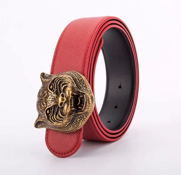 Red with bronze buckle
