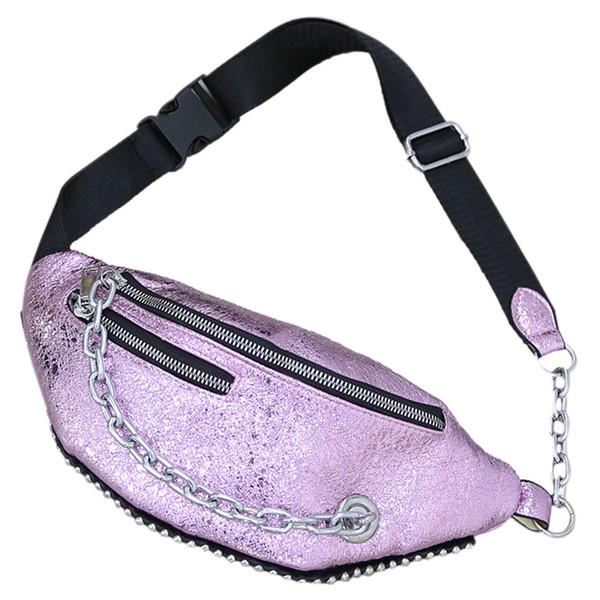 Mode koreanisch niet crossbody brusttasche einzigartiges design frauen taille pack mit kette