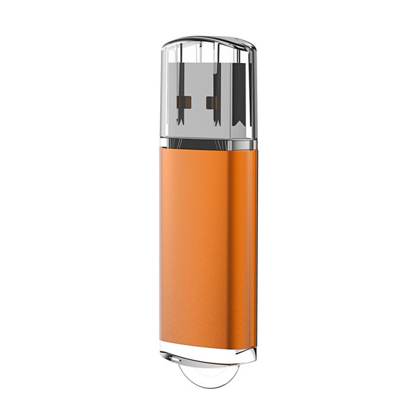 J-boxing Orange Rectangle 32GB USB Flash Drive Enough Memory Sticks 32gb usb 2.0 Flash Pen Drive for PC Laptop Macbook Tablet Thumb Storage