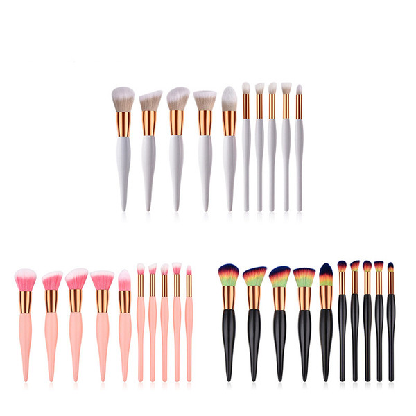 Zouyesan Free Shipping 2019 10 makeup brushes, beauty, small pregnant belly, five big five small, scattered powder brush