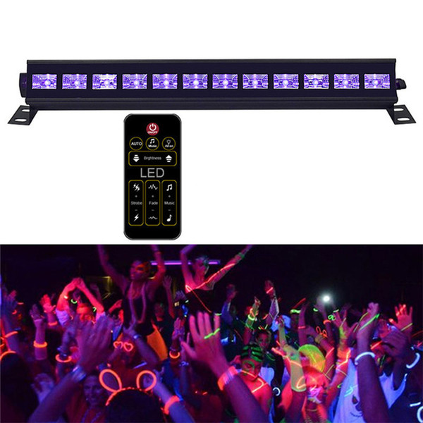 Voice Activated Purple Stage Lighting Effect Decor For DJ Disco Lamp Home Laser Projectors UV Led Bar With Remote controller 4 orders