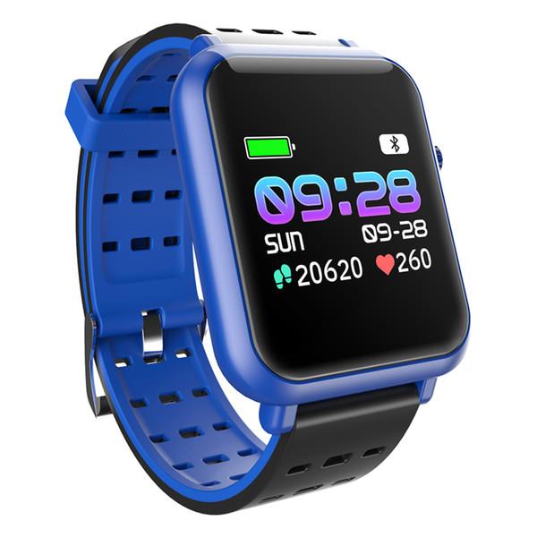 RUIJIE Q8 Mini Smart Watch Men Waterproof Color Screen Smart Wristband Heart Rate Fitness Tracker Bracelet