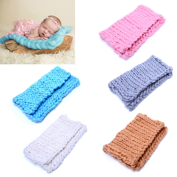 Cute Baby Newborn Photography Photo Props Faux wool Basket Stuffer Blanket Rug