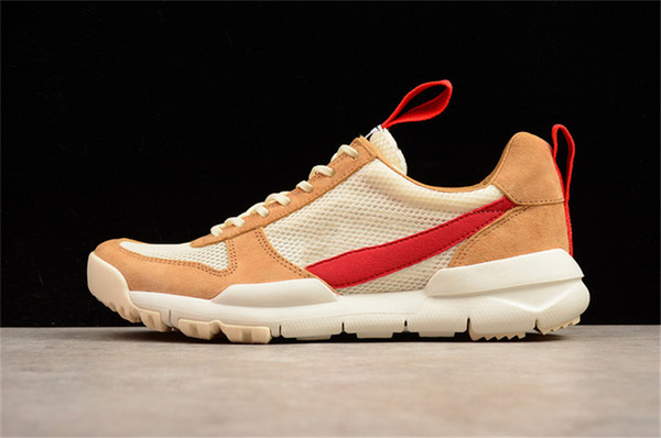 Authentic Tom Sachs Craft Mars Yard 2.0 Space Camp Running Shoes For Men Authentic AA2261-100 Natural Sport Red Maple Sneakers With Box