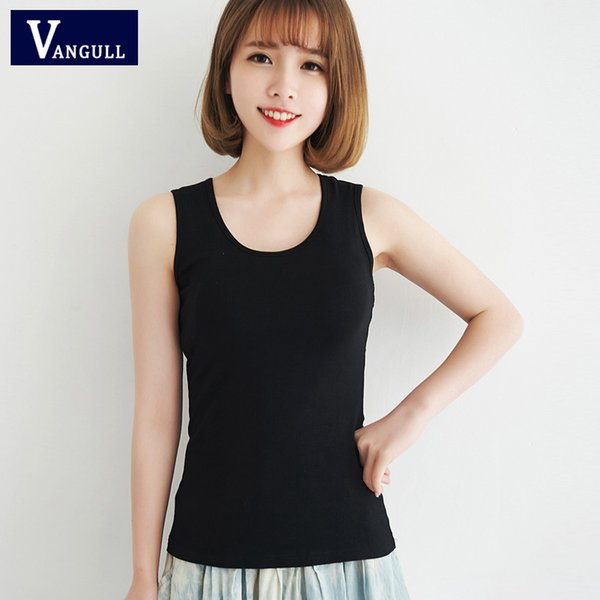 2016 ride vest female cotton slim bottoming small vest women's summer sling fashion solid color sleeveless camisoles
