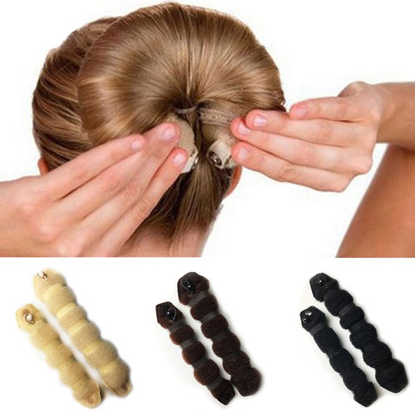 45SET/ LOT Girl Hair Styling DIY Easy Bun Makers Girl Braiders Meatball head making tool Chignon Magic Styling Hair Tools