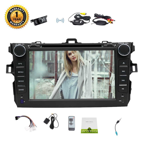 "Eincar for COROLLA EX 7"" Android 7.1 Car Stereo 2GB 32GB Octa-core in Dash Car DVD Player Auto Video Headunit GPS Navigation"