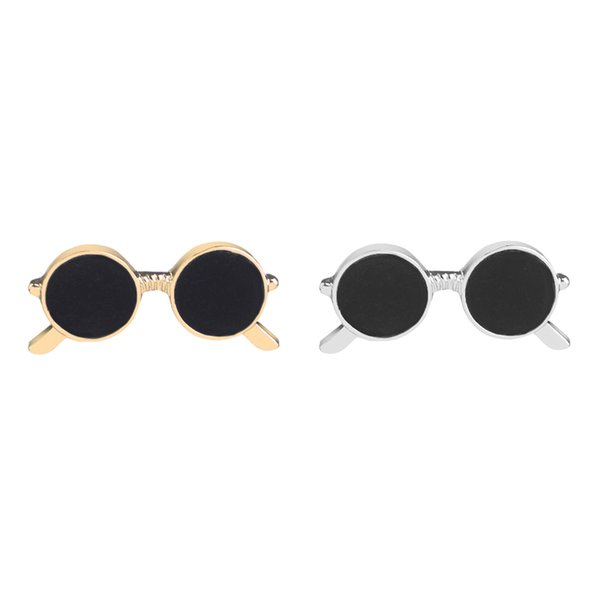 metal glasses Brooch simulation Enamel spectacles Pin Coat Shirt Bag pins cartoon eyeglasses Lapel Pin Badge button brooches