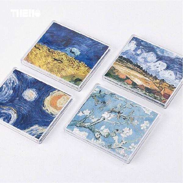 Schöne Drucke Van Gogh Dream Ölgemälde Kurze Geldbörsen Leichte, weiche, wasserdichte Geldbörse Bumper Landschaft Funny Bag Nice
