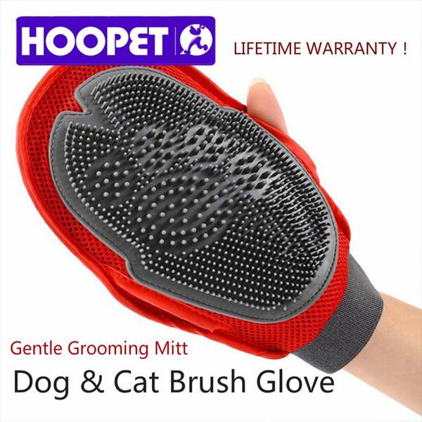 HOOPET Cat Pet Dog fur Grooming Groom luva Mitt Escova Comb Massagem Bath Brand New big dog lavagem ferramenta fabricante de Bolhas