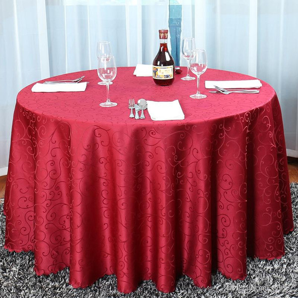 top popular Brief Design Hotel Jacquard Tablecloth Fashion Luxury Style Table Cloth Restaurant Round Table Skirt Tick For Home Decorations 51by3 ZZ 2020