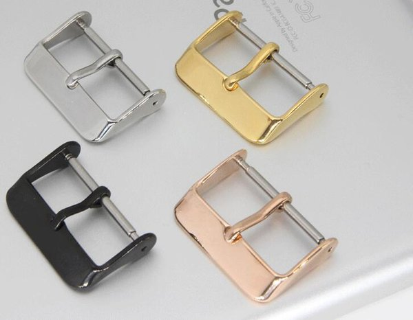 top popular Stainless steel watch accessories watch buckle Gold silver black 2020