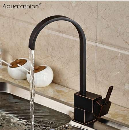 2019 Vintage Black Kitchen Faucet Oil Rubbed Bronze Kitchen Mixer Single  Handle Black Faucet For Kitchen Sink From Geoda, $65.3 | DHgate.Com