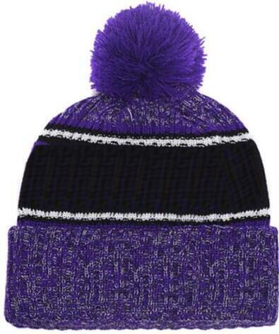 2019 Autumn Winter hat Sports Hats Custom Knitted Cap with Team Logo Sideline Cold Weather Knit hat Soft Warm Ravens Beanie Skull Cap