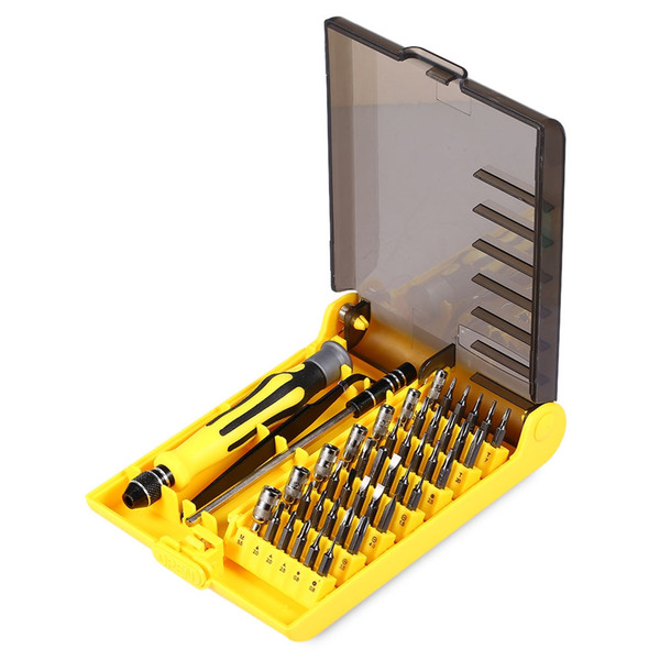 6089A 45 in 1 Multifunctional Tool Screwdriver Kit with Tweezer Hard Extension Bar Repair Precision Screwdriver Set