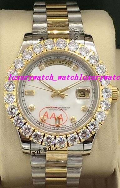 Luxury Watches 4 Style Two Tone 41mm Bigger Diamond Dial/bezel 118348 WATCH CHEST NEVER WORN Automatic Fashion Brand Men's Watch Wristwatch