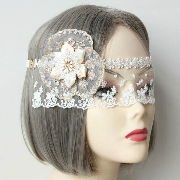 Bridal white lace princess lace butterfly mask veil headdress sexy fun veil prom party bar nightclub bridal wedding accessories