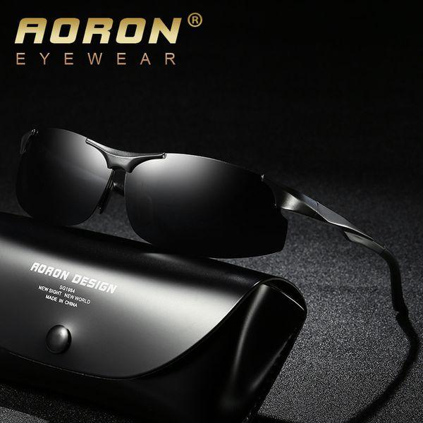 1069def16b AORON Aluminum Magnesium Brand Designer Polarized Sunglasses Men Glasses  Driving Glasses Summer 2018 Eyewear Accessories
