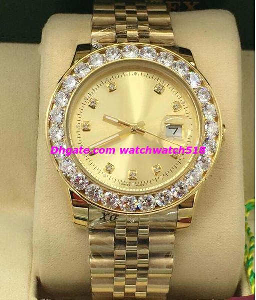 Luxury Watches 6 Style Bigger Diamond Bezel Diamond Dial Mens 116238 40mm Automatic Fashion Brand Men's Watch Wristwatch