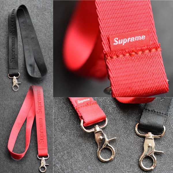 top popular Fashion CellPhone Lanyards Strap Clothing brand Keychain Phone Keys MP3 Camera IDs Badge Holder Detachable Buckle Good Gift High QualitySupr 2020