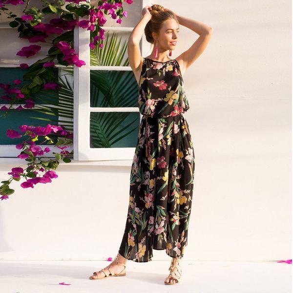 54a5688717d17 New 2019 Women Maxi Dress Boho Floral Summer Beach Long Dresses High  Quality Party Dresses Robe Longue Femme Long And Short Dress Sundress  Online From ...
