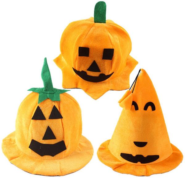 Pumpkin Halloween Hats Orange Hat Costume Ball Cosplay Party Hat Props Lint Cute Women Adult Children Cartoon Caps