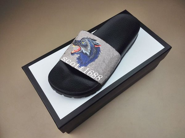 mens and womens fashion angry wolf print trek slide sandals flip flops with thick rubber sole 9 colors